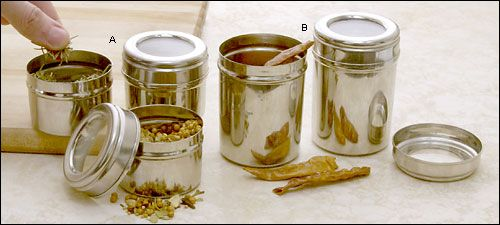 Stainless-Steel Canisters - Gardening