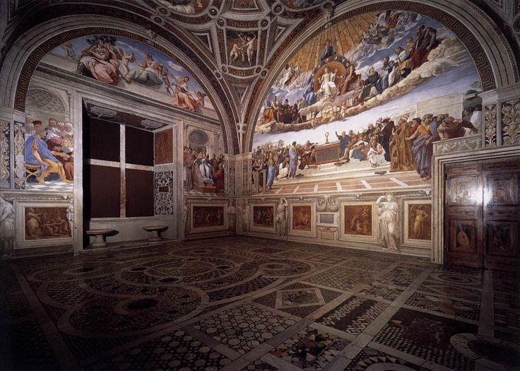 RT @StefanoRocca9: #Raphael. View of the Stanza della Segnatura. 1508-1511 #Art  Palazzi Pontifici #Vatican #Rome #Raffaello https://t.co/DmIwj4F4Md