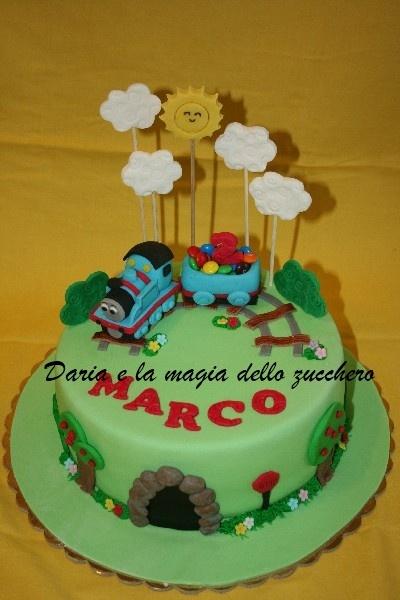 Thomas the train cake torta trenino thomas children for Decorazioni torte trenino thomas