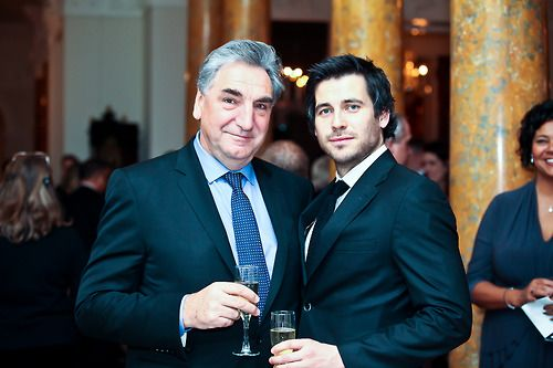 Rob James Collier and Jim Carter- two of the best men on Downton.