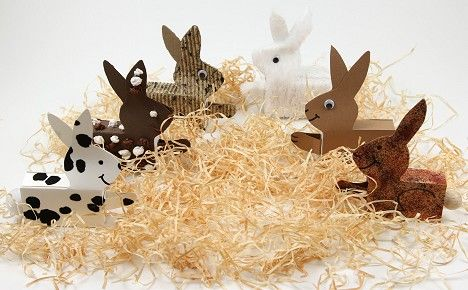 Basteln zu Ostern: Hase aus Streichholzschachtel