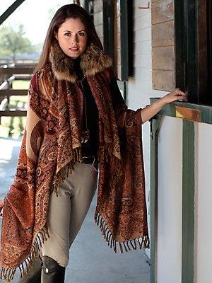 autumn shawl - scarves - accessories - GorsuchPaisley Autumn Coat, Fashion Clothing, Autumn Shawl, Westerns Fashion, Westerns Southwestern, Style Fashion, Apres Ski