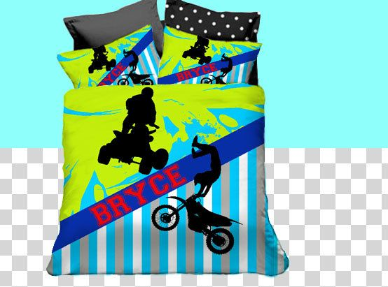 Motocross Duvet Cover, Kids ATV Bedding Kids Rooms, Motocross Bedding Sets, Dirt Bike Bedding, Freestyle, 4-Wheeler, King, Queen, Twin by Slive88 on Etsy https://www.etsy.com/listing/224355583/motocross-duvet-cover-kids-atv-bedding