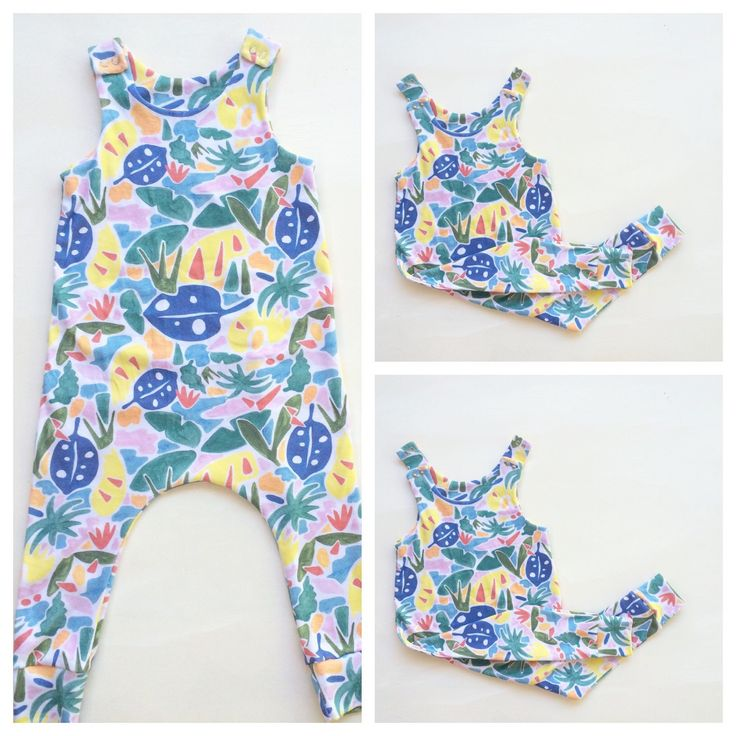 RAINFOREST ROMPERS   I am super excited about my latest creation, my harem rompers! Perfect for little peeps as the seasons change   I absolutely love this fabric design by Aussie Ellie Whittaker   Sizes 0000-2 available now from Eclectic Bambino