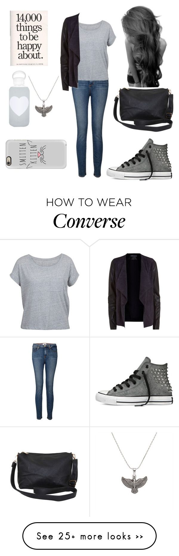 """""""Untitled #141"""" by pinkkittycat on Polyvore featuring Alex and Ani, Paige Denim, Vince, Converse, Humble Chic, bkr and Casetify"""