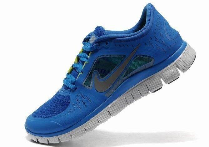 Nike Free Run+ 3 Unisex Juoksukengät Sininen Harmaa
