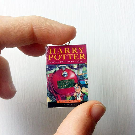 Harry Potter mini book necklace. For a little bit of daily fandom in your life. #HarryPotter #necklace #fandom #book #bookish