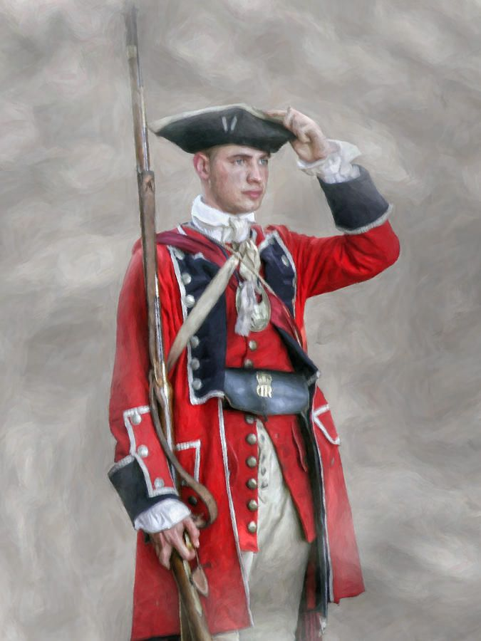 British Uniforms Revolutionary War | British Soldier French And Indian War Digital Art - Young British ...