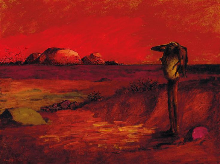Russell Drysdale (Australian, 1912-1981), Red Landscape, 1958. Oil on canvas, 76 x 101.5 cm