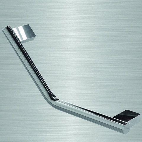 Barre d'appui - Velena Static - Lisse - 135° - 20 x 20 cm - Chromé