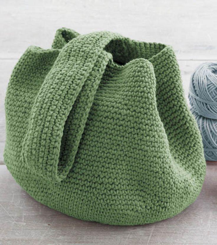 Crochet Bucket Bag - free pattern at Joann Fabric