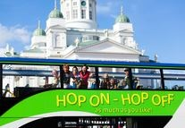 Welcome to Open Top Tours and the northern route. A sightseeing tour around Helsinki where you hop on and off as much as you like.