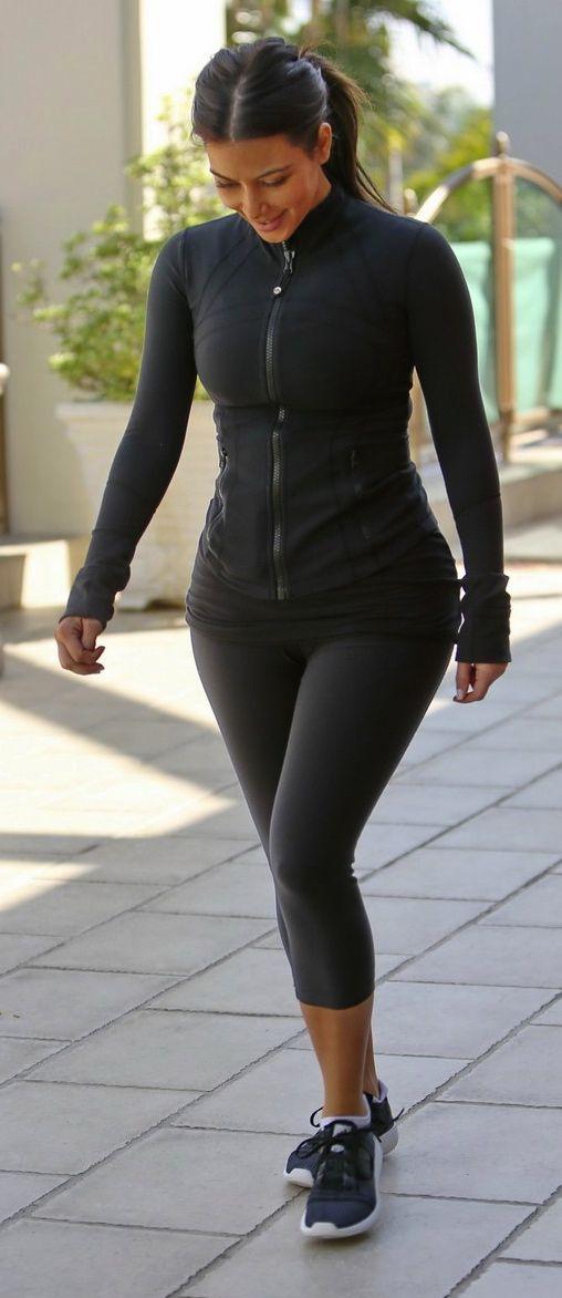 Kim Kardashian Workout Style