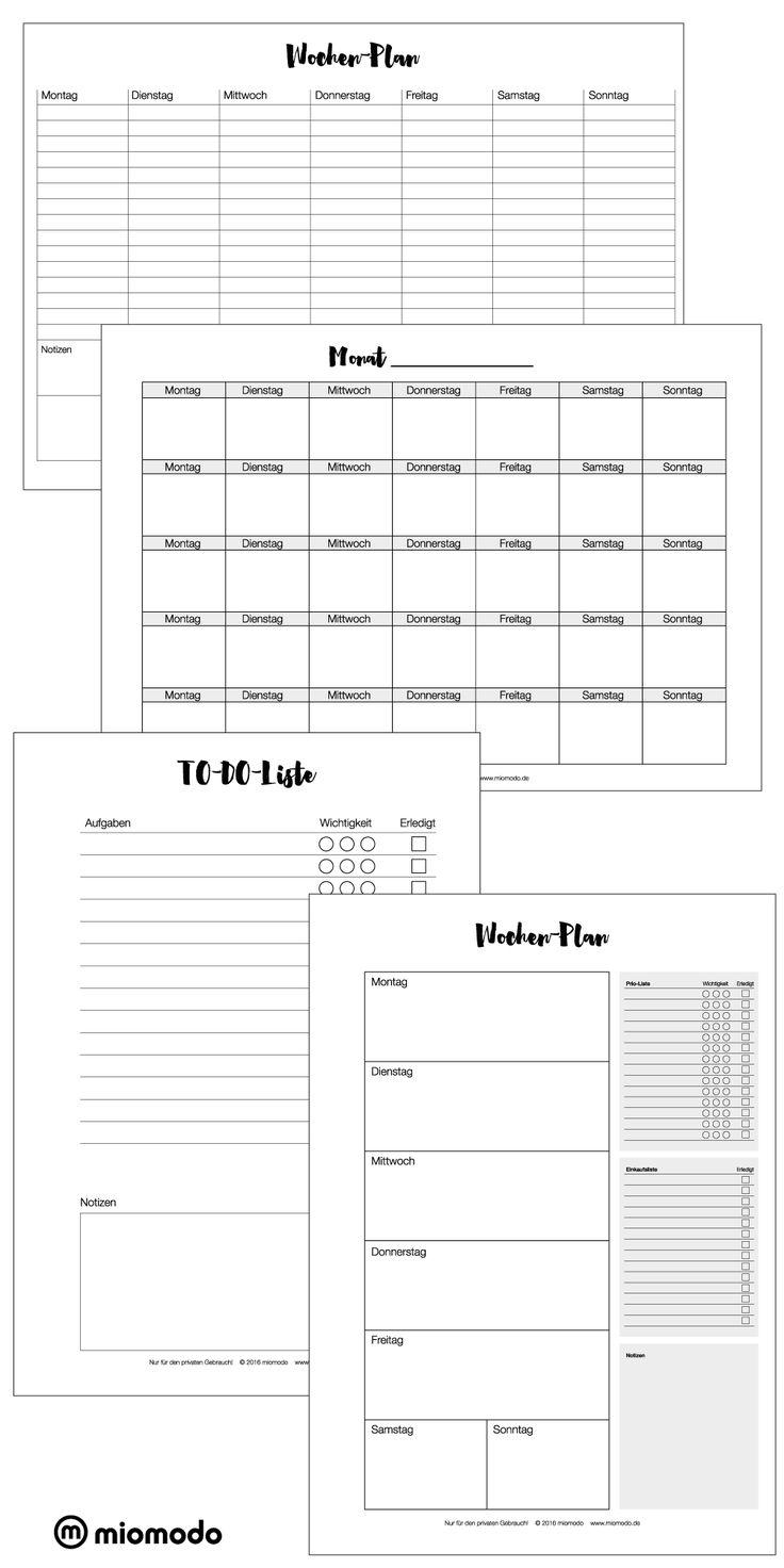 Kalender zum Ausdrucken | Freebie | Printable | Wochenplaner | Monatsplaner | To-Do-Liste | www.miomodo.de/blog