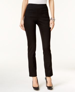 Style & Co Petite Pull-On Skinny Pants, Only at Macy's - Black P/XL