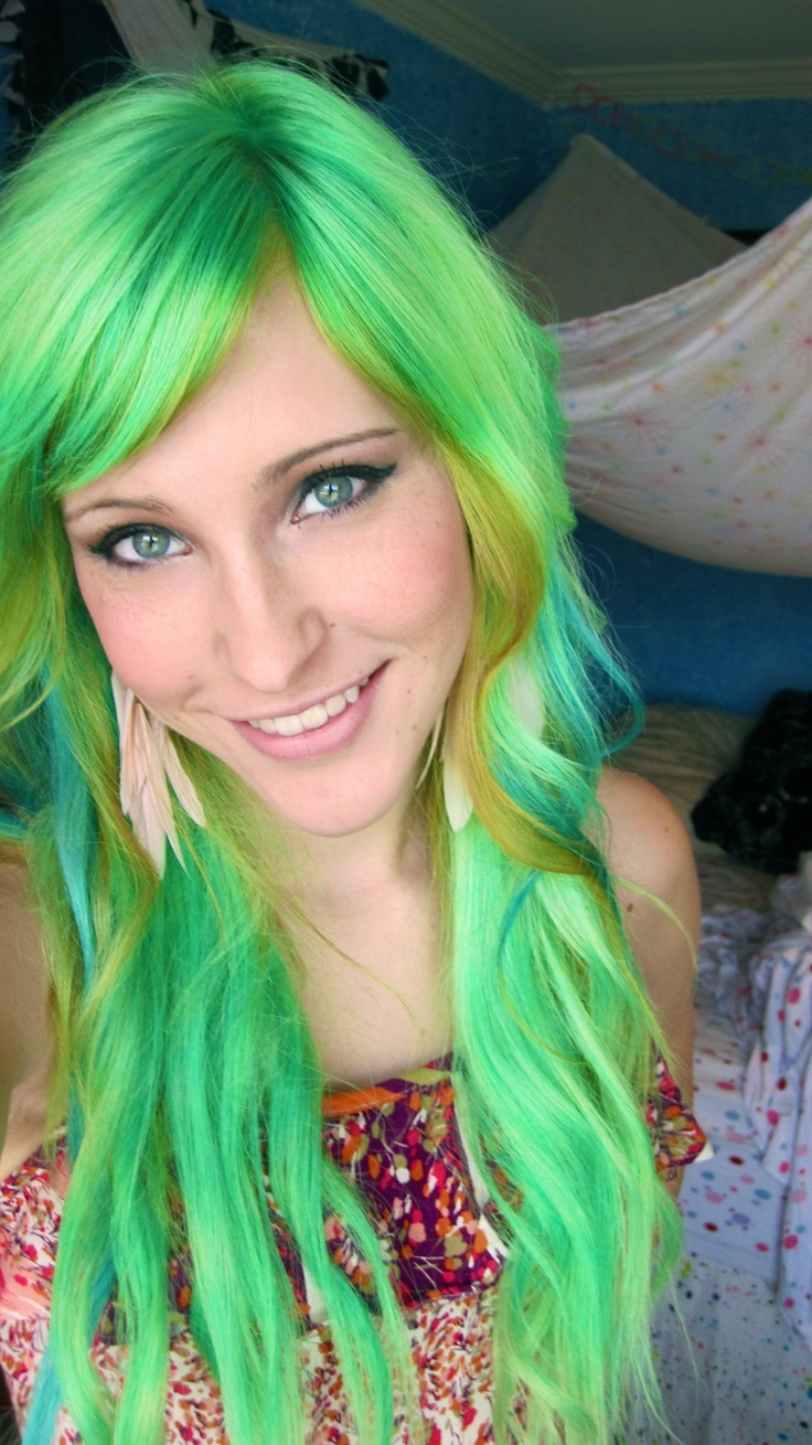 Green Colors For Living Rooms: 1000+ Images About Green Hair On Pinterest