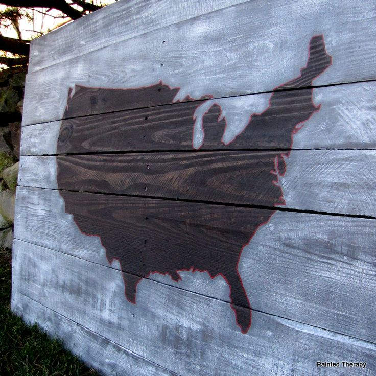 Map Usa States Abbreviations%0A Pallet Art  USA Map