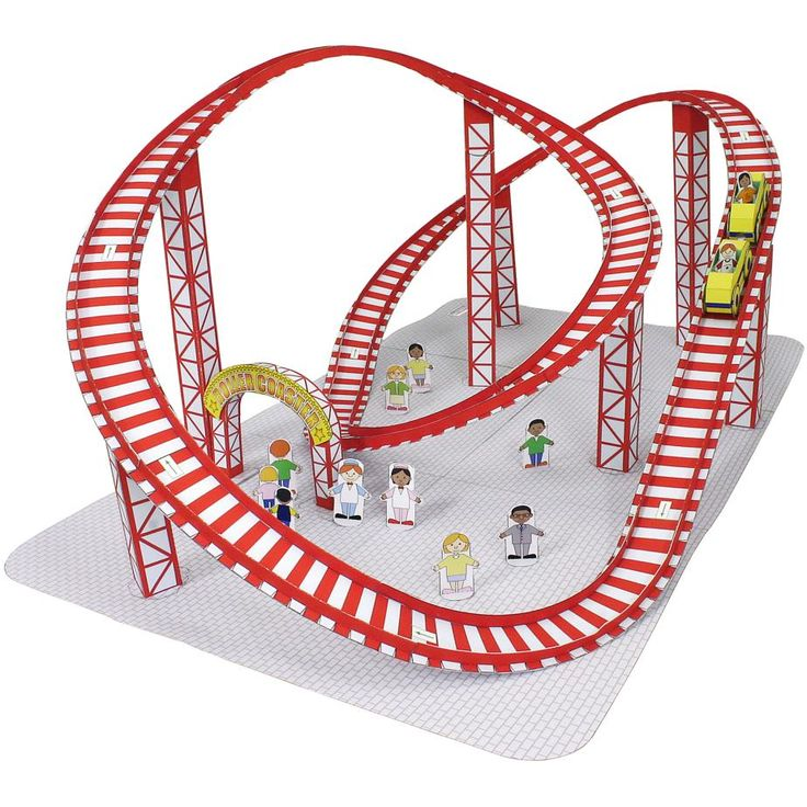 Amusement Park(Roller coaster),Toys,Paper Craft,amusement park,vehicle,toy