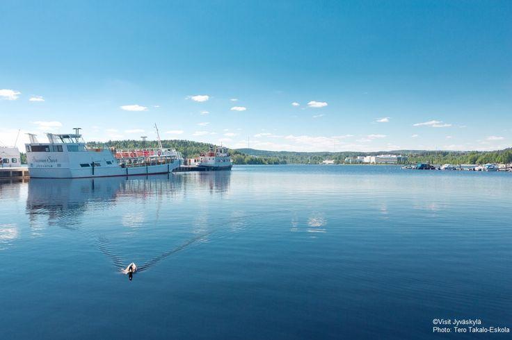Lutakko harbour and Lake Jyväsjärvi. ©Visit Jyväskylä Photo: Tero Takalo-Eskola.