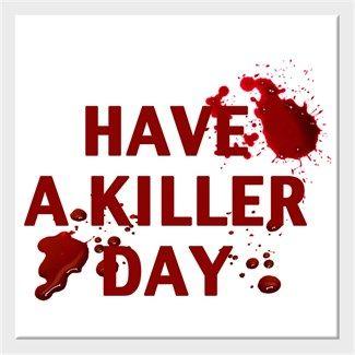 Her Gün 1 Film Öner - Have A Killer Day - Kendin Tasarla - Kanvas Tablo 25x25cm Kare