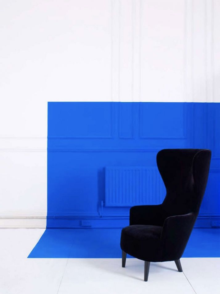 Colour blocking walls and ceiling. TOM DIXON by George Smith 2009 | Yatzer