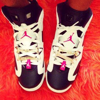 shoes air jordan jordan jordan shoes black pink white gold