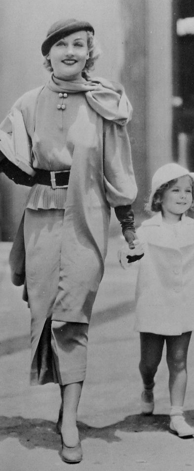 Now and Forever (1934 film) Carole Lombard & Shirley Temple