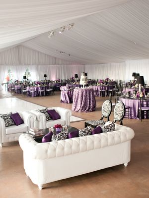 """Fiancé and I both love the idea of a """"lounge"""" at our reception. I think we'd face all the seating toward the dance floor, so no one misses any precious and hilarious moments."""