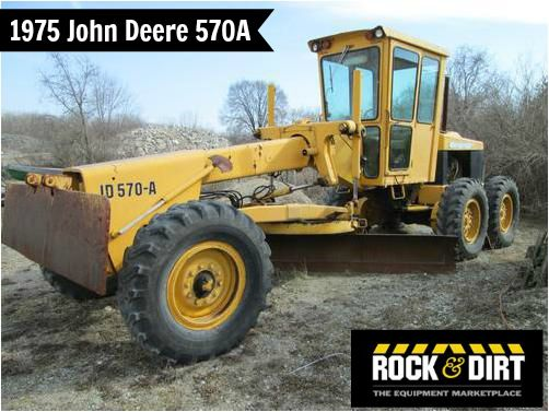 #ThrowbackThursday Check out this 1975 John Deere 570A Motor Grader! View more #JohnDeere #MotorGraders at http://www.rockanddirt.com/equipment-for-sale/JOHN-DEERE/motor-graders #HeavyEquipment #RockandDirt #tbt