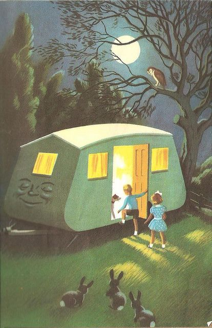 """Co-Co the Caravan by John Kennedy, from """"Tootles the Taxi"""", Ladybird Books 1956. Reminds me of Roberta and Smitty. :)"""