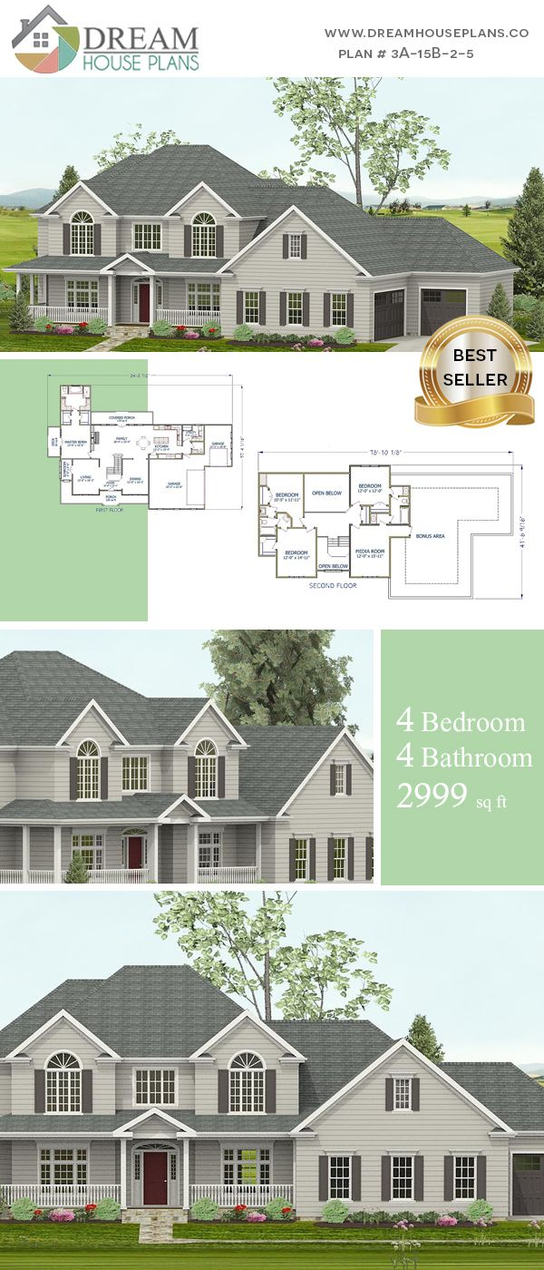 Dream House Plans Best Southern Living Family 4 Bedroom 2999 Sq Ft House Plan With Basement Shop Our Southern House Plans House Plans Luxury House Plans