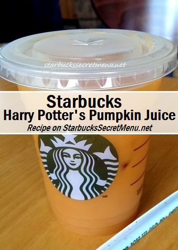 Harry Potter and Starbucks fans, we present #Starbucks Pumpkin Juice! #starbuckssecretmenu how to order: http://starbuckssecretmenu.net/harry-potters-pumpkin-juice-starbucks-secret-menu/