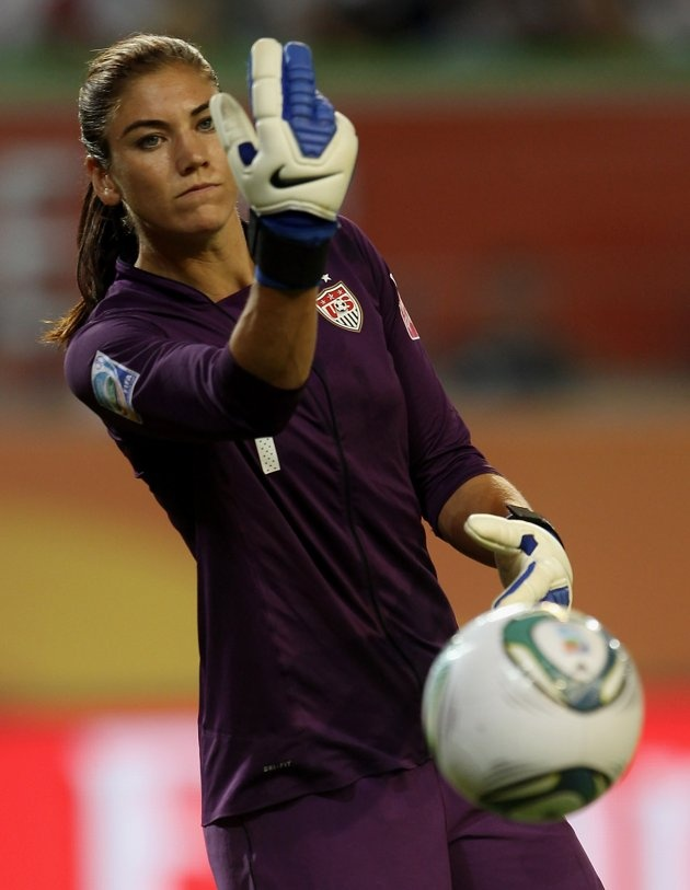 Hope Solo of USA during the FIFA Women's World Cup 2011 between Sweden and USA at the Arena In Allerpark on July 6, 2011 in Wolfsburg, Germany.