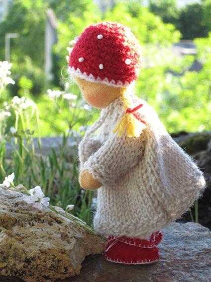 Little Toadstool, 4,5 in by Puppenliesl, via Flickr