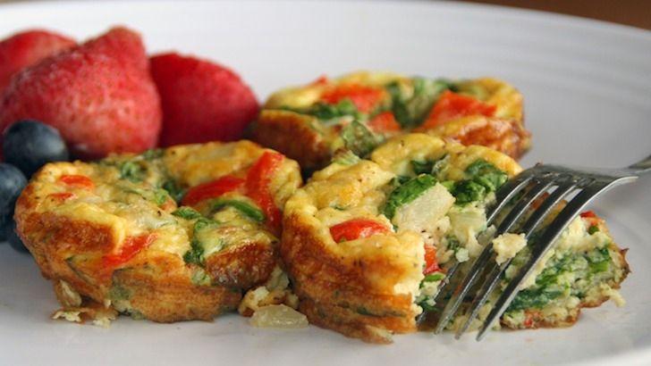 Lunes sin carne: frittata de pimentones rojos y col rizada | Inspirulina.com