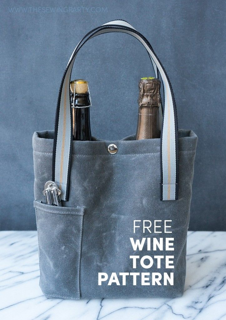 Free Wine Tote Pattern at TheSewingParty.com