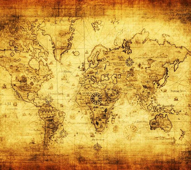 Best Old World Maps Ideas Only On Pinterest Vintage Travel - Us map with world map in the corner