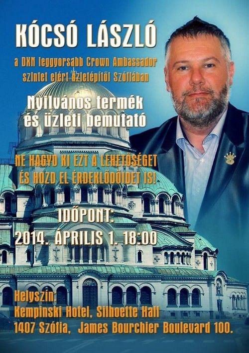 DXN - Kócsó László Bulgáriában http://immunerositokave.info/kapcsolat/tagsagi-regisztracio-es-uzleti-lehetoseg/dxn-worldwide/