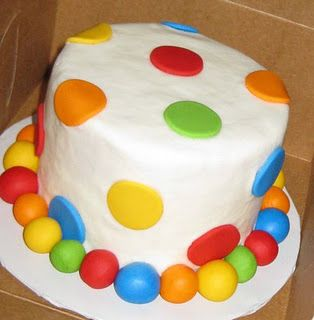 """This is a cute idea for my """"bouncy ball"""" theme party for my sons first birthday."""