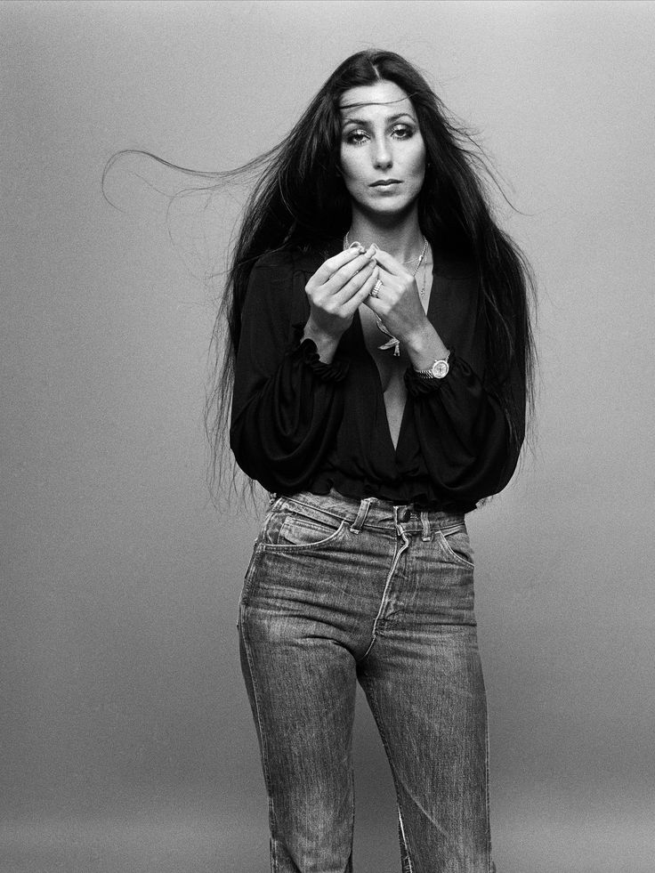 Cher, the original lady in high-waisted jeans.