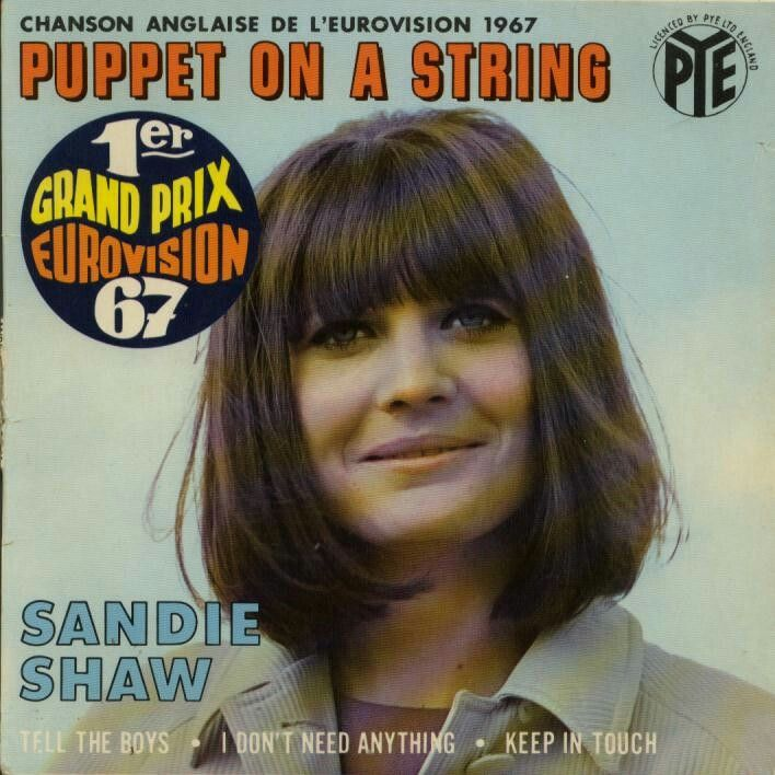 Eurovision song contest winner, Puppet on a string - Sandie Shaw