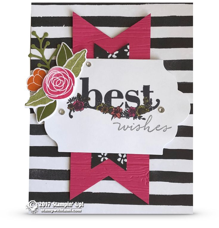 SNEAK PEEK: Best Wishes Card from Happy Wishes stamps | Stampin Up Demonstrator - Tami White - Stamp With Tami Crafting and Card-Making Stampin Up blog