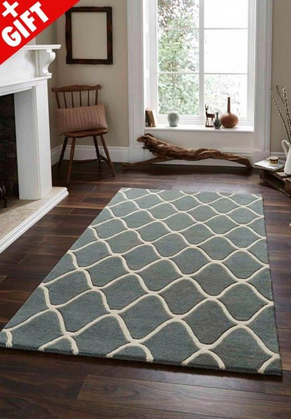 Elements El 65 Wool Rugs In Blue For
