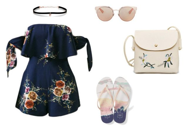 """""""girly summer"""" by nanaristha on Polyvore featuring Christian Dior, WithChic, Gap and Carbon & Hyde"""