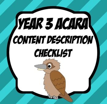 Year 3 Content descriptors for all subject areas except The Arts and Languages.