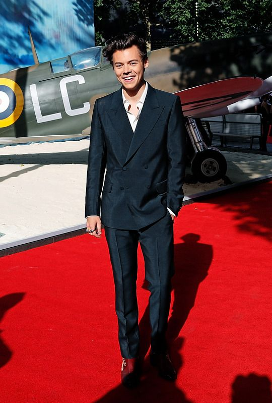 harrystylesdaily: Harry Styles at the 'Dunkirk'... - Ain't going down without a fight
