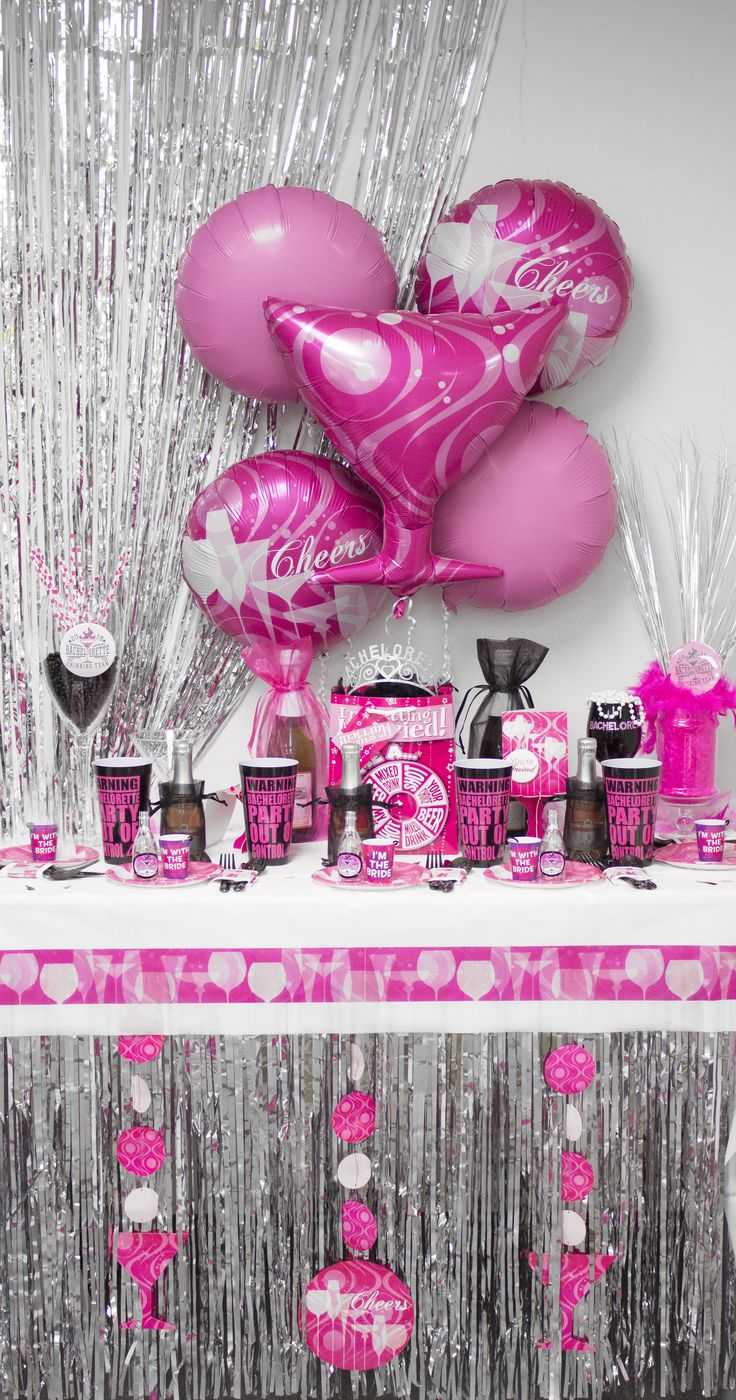 10 best images about pink bachelorette party on pinterest for Bachelorette party decoration ideas