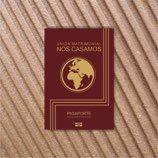 Invitaciones de boda pasaporte original