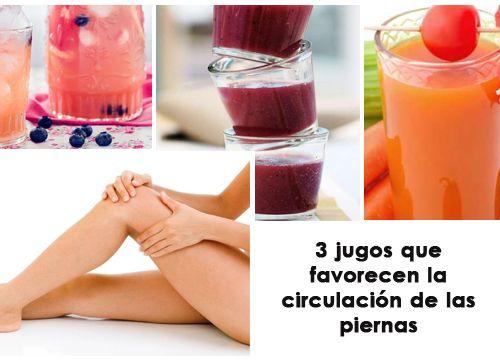 ¿Sueles padecer calambres en las piernas? ¿Tienes varices? Entonces encuentra alivio con estos jugos que favorecerán la circulación de las piernas.