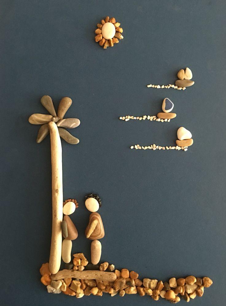 Pebble art gülen